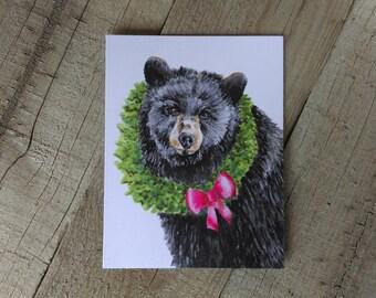 Bear Christmas card - Holiday Bear