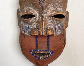 African Mask, Baholoholo (Holoholo) Tribe, Congo, Very Rare, Large, Wooden, Old