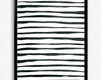 Stripes Art Print, Downloadable Art Print, Downloadable Wallpapers, Digital Art, Watercolour, Stripes, Instant Download