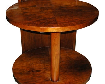 5467 Fabulous Round Art Deco Center Table c. 1930