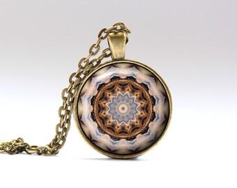 Mandala necklace Indie pendant Boho jewelry OWA218