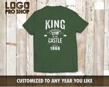 """49th Birthday Shirt, Perfect for the boss, Born in 1966, Birthday t shirt, 49th Birthday Idea, 1966 Birthday, 49, Vintage tee """"KING1966"""""""