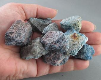 3 Raw Apatite Stones - Blue Apatite, Energy Healing, Apatite Nuggets, Throat Chakra, Healing Crystals & Stones, Raw Crystals, Reiki (T208)