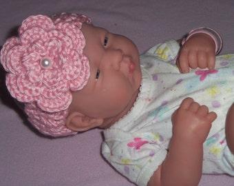 Crochet 3 Layer Flower Headband