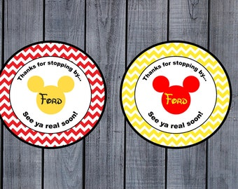 Mickey Mouse Party Favor Tags-Printable