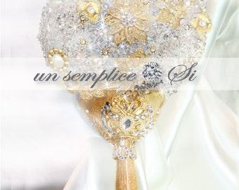 Brooch Bouquet available in Gold or Silver