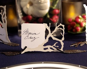 Woodland Wedding Place Cards - Outdoor Wedding - Laser Cut Branch Die-Cut Cards - Branch Place Card - Branches - Wedding Place Card - Forest