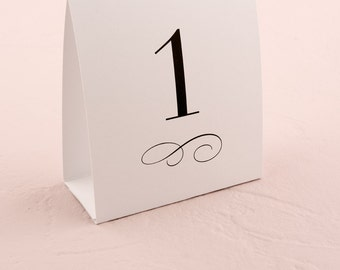 Wedding Table Numbers - Tent Table Numbers - Table Number Tent Style Card - Wedding Signage : tent style table numbers - memphite.com