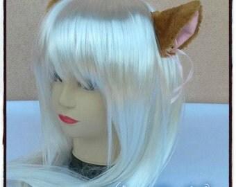 Brown Cat Ear with clip - Neko Cosplay