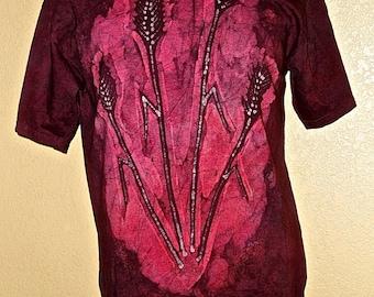 Batik Wheat Adult T-shirt