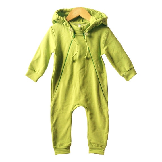 baby sweatsuit green kids coverall baby fleece dungarees. Black Bedroom Furniture Sets. Home Design Ideas