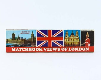 Vintage Collectible London Matchbook - 120 matches