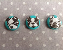 Mint green french bulldog button magnet frenchie fridge magnet cute kitchen decor gift for dog lover refrigerator magnet dog button magnet