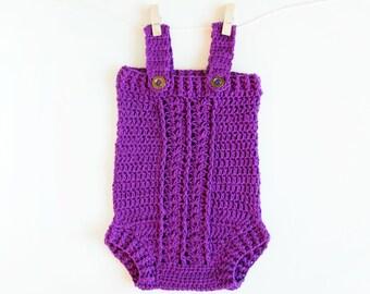 CROCHET PATTERN - Crochet Baby Romper /Onesie /Playsuit Little Dreamer - Babay Overall- PDF
