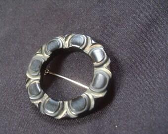 Vintage Carved Bakelite Pin