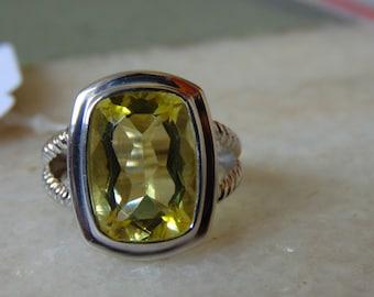 super fine quality lemon topaz ring for women in 925 sterling silver