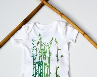 Modern Baby Bodysuit / Baby Shower Gift / Green Baby One Piece