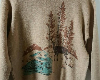 Mens Knit Sweater Size Large