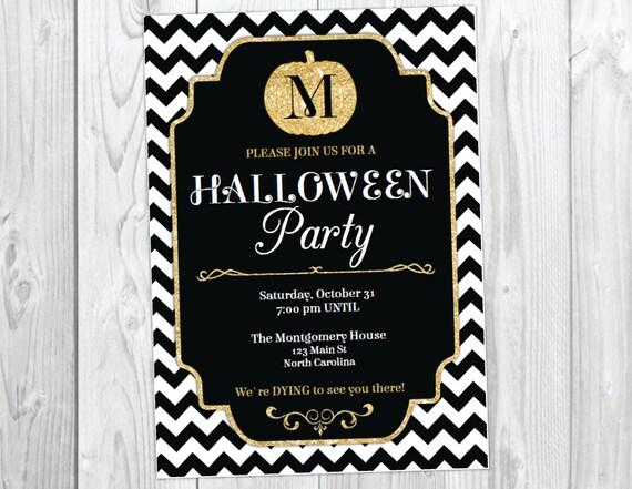 Halloween Party Invitation / Halloween Bash Invite / Costume Party / Halloween Invitation / Pumpkin Invitation / Instant Download