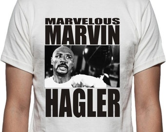 Marvelous Marvin Hagler T-shirt - Boxing Legend, ECO FRIENDLY PRINT, S - 2XL, Various Colours