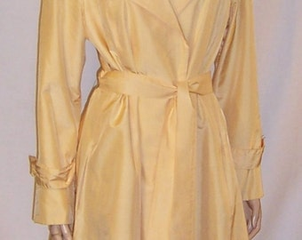 "1970's Pale Yellow All Weather Coat by ""Count Romi"" for ""Hartly"""