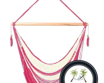 Roseate Hammock Chair - 100% Hand Woven - Perfect for one child, teen or adult!