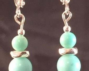 Larimar composite earrings