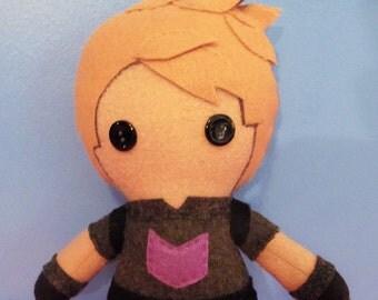 Hawkeye Clint Barton Fleece Plush Doll