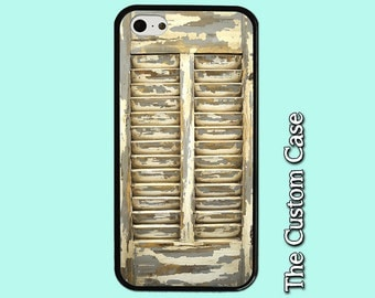 Shabby Chic Shutter Phone Case, Rustic Shutters Phone Case, Tuscan Shutter, Iphone 4/5/5c/6/6+, Samsung Galaxy S3/S4/S5/S6/S6 Edge