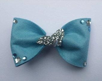 Disney, Cinderella, Glass Slipper Inspired Hair Bow