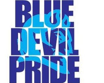 Blue Devil Pride Knockout Font SVG, DXF, Cricut, SCAL, Silhouette Cutting File