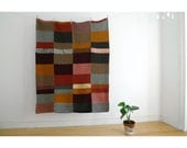 Handknitted Couch Throw Blanket - Autumn colors - Blanket n.2