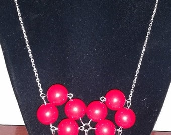 Cherry heart necklace. This 18 inch beaded heart necklace is quite a statement!