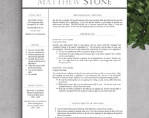 Professional Resume Template for Word (US Letter and A4 Sizes) 1 or 2 Page Resume Template + Cover Letter + Resume Tips | INSTANT DOWNLOAD