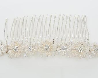 Bridal Hair Comb, Pearl Hair Accessories, Pearl Hair Comb, Deena Wedding Hair Comb