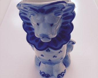 Pottery Lion Etsy