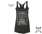 women's JACK daniels with a distressed print tank top