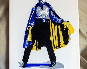 Lando Calrissian - Hand-Painted Pop Art Canvas