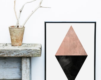 Diamond Print, Instant Download, Geometric print, Printable Art, Scandinavian Art, Triangle Print, Geometric Art, Abstract Art Print