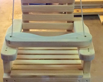 Old Fashioned Wooden Baby / Toddler Swing, Kids Patio Swing, Outdoor Tree  Swing.