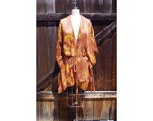 Beaded Silk Kimono, Bohemian Kimono Cardigan, Kimono Robe, Resort Beach Cover Up, Kimono Cardigan,One Of A Kind Chiffon Jacket boho jacket