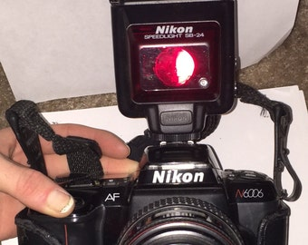 Nikon N6006/F601 35mm Film Camera With Flash attachment