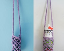 Smart holder crochet handmade sunglasses holder bottle holder strap glasses case lanyard