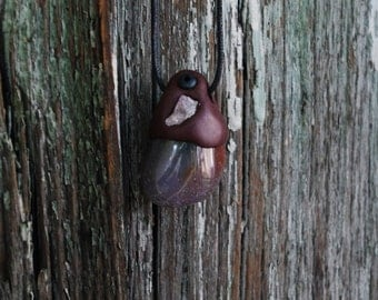 Pendant Jasper fancy handmade - Lithotherapy - Pierre and Fimo - ॐ