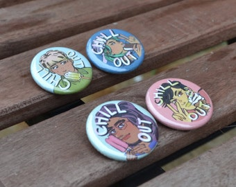 Chill Out! Button Set