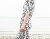 Geometric Cowl Dress