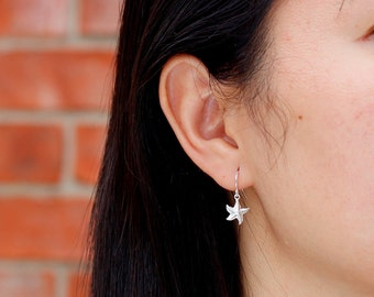 Dainty Starfish Earrings, Gold Fill or Sterling Silver Starfish, Simple Nautical Jewelry, Bridesmaids gifts
