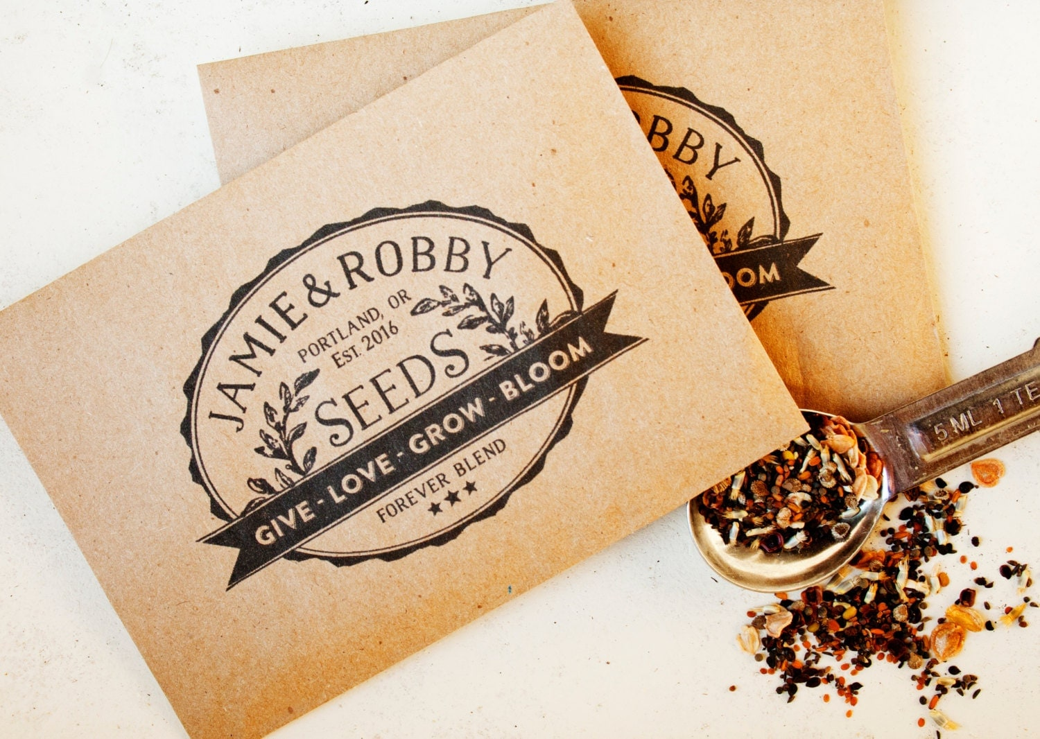 Vintage Seed Packet Wedding Favors Give Love Grow Bloom