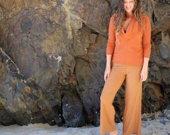 ORGANIC Stretchy Simplicity Pedal Pushers ( light hemp and organic cotton Lycra ) - organic pants