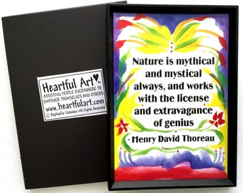 NATURE Is Mythical THOREAU Inspirational Quote Motivational Print Environmentalist Gift Family Friends Heartful Art by Raphaella Vaisseau